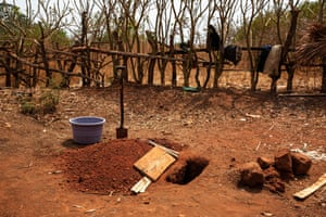 The little grave for Gnassongou Bernard, the eight month old son of Zari Odette and Gourou Pascal, in Baboua, Central African Republic