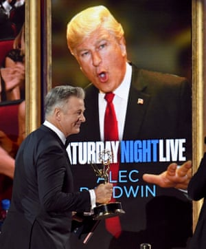Alec Baldwin accepts outstanding supporting actor in a comedy series for Saturday Night Live.