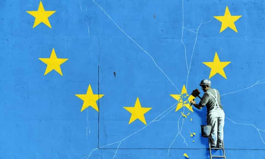 Banksy's Portrait of Brexit Britain, Dover, taken in 2019.