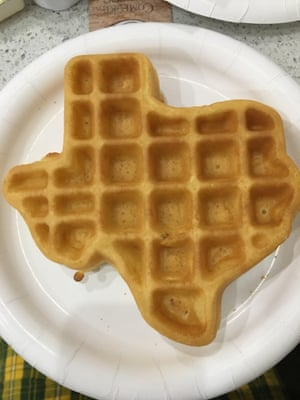 Lone Star-shaped breakfast waffles. Everything's bigger in Texas.