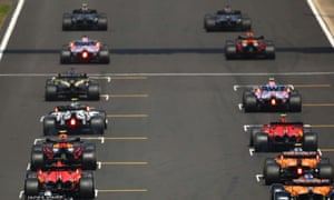 Cars on the grid for the 70th Anniversary Grand Prix at Silverstone in August.