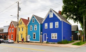 Colourful houses in the north end of Halifax.