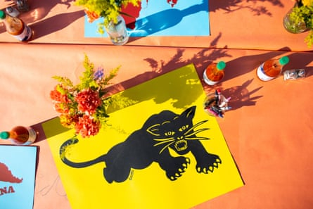 A Black Panther poster, courtesy Emory Douglas.