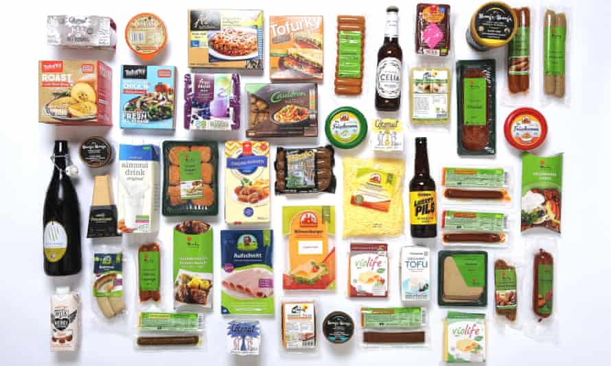 A sample of the ever-growing range of vegan products.