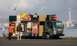 Amazon's Treasure Truck, a roaming vehicle offering customers in Seattle one-off purchases at discounted prices.