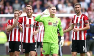 Jack O'Connell (back left) and Chris Basham (right) have helped Sheffield United settle into the Premier League with their dynamic runs from centre-back.