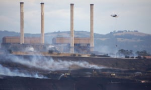Hazelwood open-cut mine and power station in Victoria.