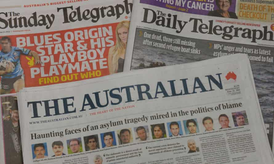 A selection of News Corp Australian newspapers.