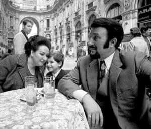 Montserrat Caballe with her husband Bernabé Martí and son, Bernabé Martí Jr., 1971