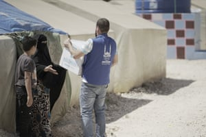 Food relief delivery in Syria