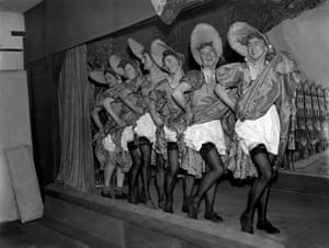 Home defence troops in drag at their charity show near Gravesend, 1940