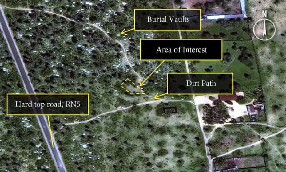 Satellite images Burundi mass graves.