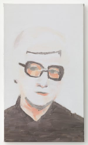 Portrait, 2000, by Luc Tuymans from the exhibition Glasses