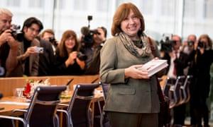 Nobel literature laureate Svetlana Alexievich.