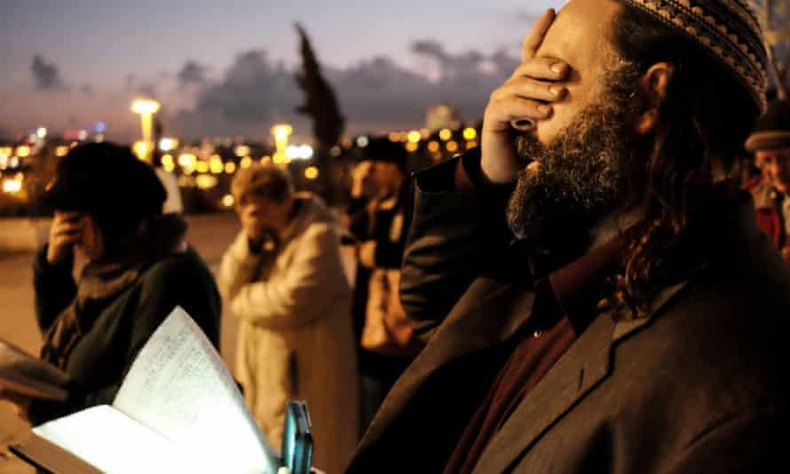 An interfaith prayer vigil in Jerusalem on Thursday