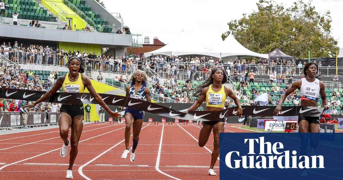 Sha'Carri Richardson humbled in 100m comeback as Thompson-Herah flirts with Flo-Jo