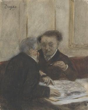 A touch of the grotesque … Degas's At the Café Châteaudun.