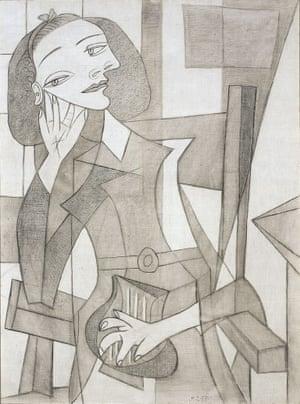 Portrait of Nusch Éluard by Pablo Picasso, 1938.