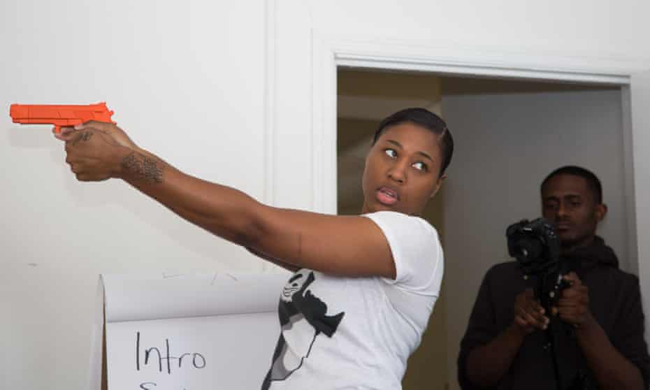 Marchelle Tigner, founder of Trigger Happy Firearm Instruction, instructs a class.