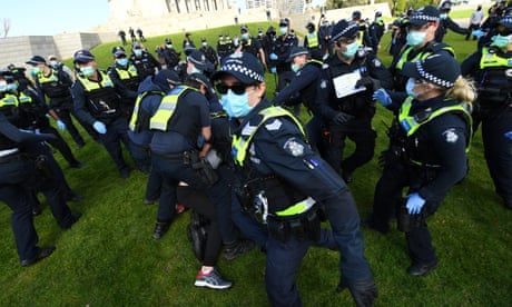 Australia's conspiracy theorists are increasingly energised, but police crackdowns may be counterproductive | Elliott Brennan