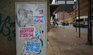 Adverts for abortions in Johannesburg