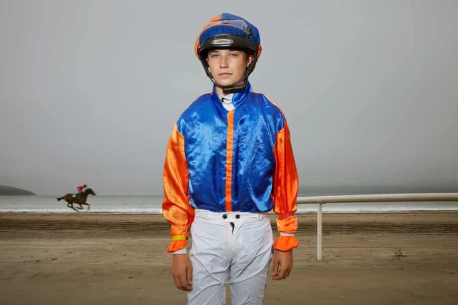 Young jockey Andy Bourke, 15