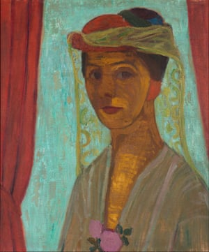 Self-portrait with Hat and Veil, by Paula Modersohn-Becker, 1906-07.