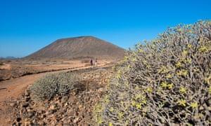 Isla de Lobos, going to the Volcano, Fuerteventura, Canary Islands.