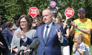 Bill Shorten with Labor candidate Ged Kearney.