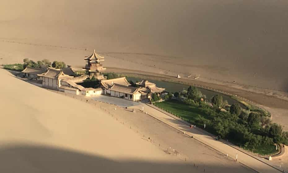 Dunhuang, on the edge of the Taklamakan desert, western China.