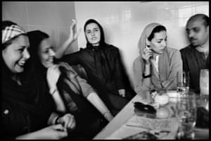 Tehran, Iran A scene inside a fashionable coffee house, 2001