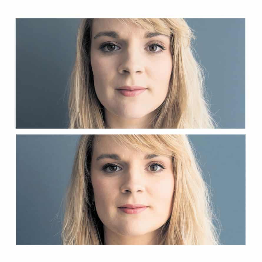 A 2018 study found that a portrait taken from 30cm away (above) increased perceived nose size by 30% compared with one taken from 1.5m away (below)