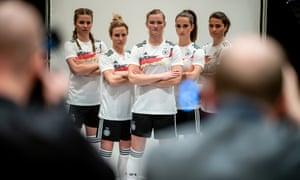 (Left to right): Melanie Leupolz, Svenja Huth, Alexandra Popp, Sara Däbritz and Dzsenifer Marozsán in Munich earlier this year.