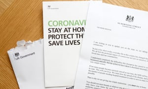 Government letter sent to UK households in April urging the public to stay at home.