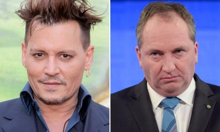 Johnny Depp and Barnaby Joyce