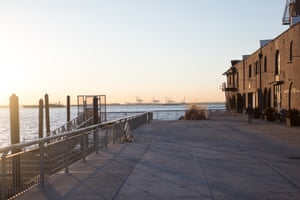 The pier in Red Hook.