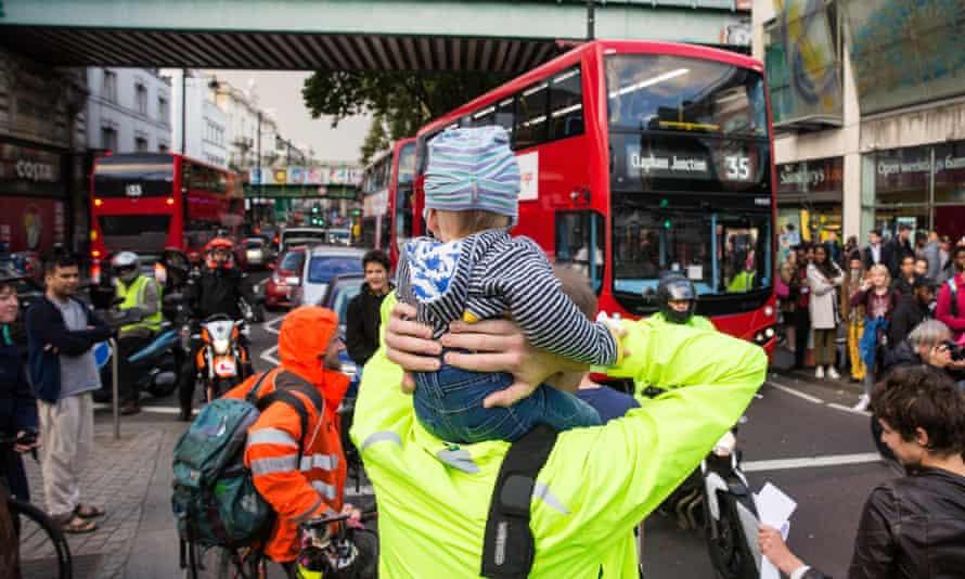 Environmental activists  block Brixton Road