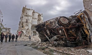 The aftermath of the airstrike in the jihadist-held city of Idlib, which is Syria's last major rebel bastion
