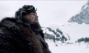 Leonardo Di Caprio in The Revenant.
