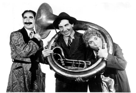 Groucho, Chico and Harpo Marx in A Day at the Races (1937)