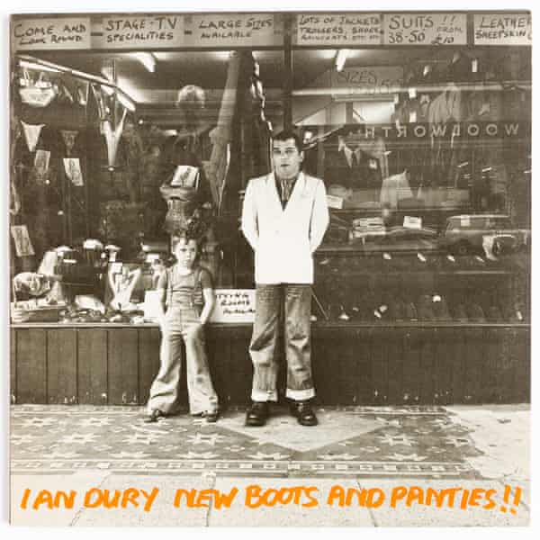 Baxter with his father Ian Dury on the 1977 New Boots and Panties!! album cover.