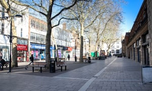 Despite shops opening on Saturday Morning the City Centre looks deserted at 10am.