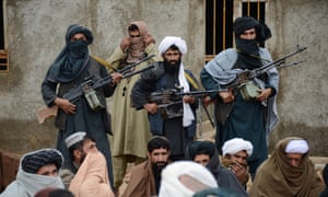 Afghan Taliban fighters pictured last year in Farah province, Afghanistan