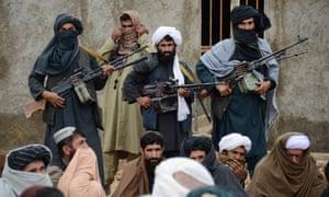 Afghan Taliban fighters in Farah province, Afghanistan