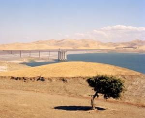 San Luis reservoir, Merced County, California, USA, 2015.