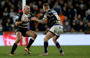 Gareth Ellis in action for Hull FC against Leeds Rhinos on Sunday.