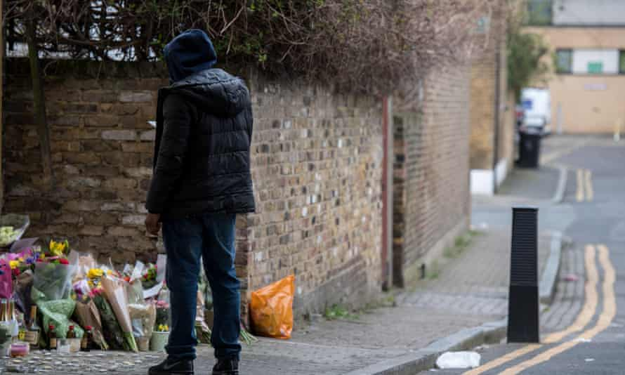 A street in Hackney, London, where Israel Ogunsola, 18, was murdered on 4 April this year.