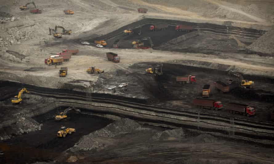 Open-pit coal mine near Ordos in Inner Mongolia