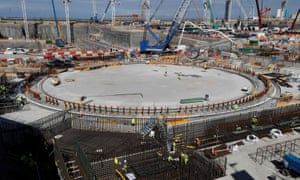 The Hinkley Point C nuclear reactor under construction.