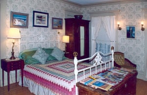 A bedroom at the Orchard Street Manor guest house.
